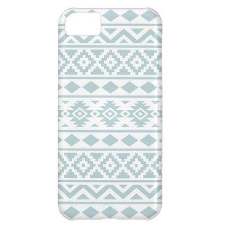 Aztec Essence Ptn III Duck Egg Blue on White iPhone 5C Case