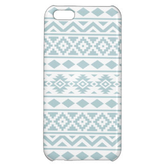 Aztec Essence Ptn III Duck Egg Blue on White iPhone 5C Covers