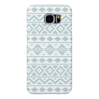 Aztec Essence Ptn III Duck Egg Blue on White Samsung Galaxy S6 Cases