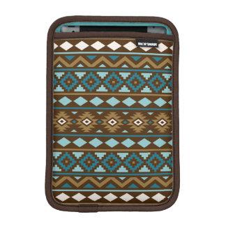 Aztec Essence Ptn III Teals Gold Cream Brown iPad Mini Sleeve
