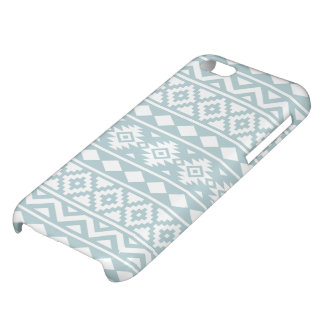 Aztec Essence Ptn III White on Duck Egg Blue Cover For iPhone 5C