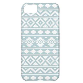 Aztec Essence Ptn III White on Duck Egg Blue iPhone 5C Case