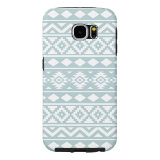 Aztec Essence Ptn III White on Duck Egg Blue Samsung Galaxy S6 Cases