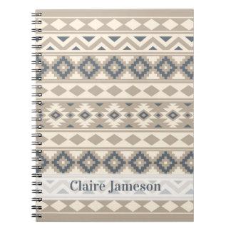 Aztec Essence Ptn IIIb Blu Crm Sand (Name Band) Notebooks