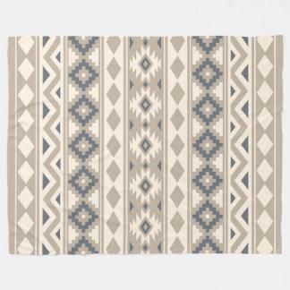 Aztec Essence Ptn IIIb Blue Cream Sand Fleece Blanket
