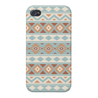 Aztec Essence Ptn IIIb Blue Cream Terracottas Case For The iPhone 4