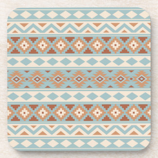 Aztec Essence Ptn IIIb Blue Cream Terracottas Coaster