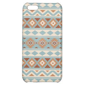 Aztec Essence Ptn IIIb Blue Cream Terracottas Cover For iPhone 5C