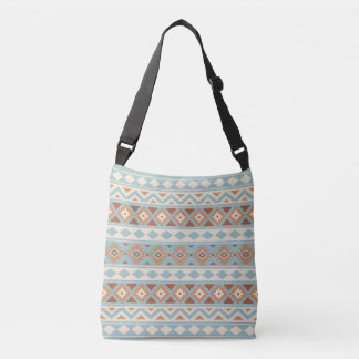 Aztec Essence Ptn IIIb Blue Cream Terracottas Crossbody Bag