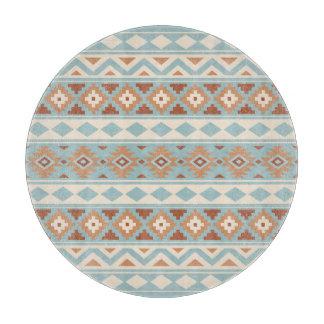 Aztec Essence Ptn IIIb Blue Cream Terracottas Cutting Board