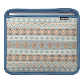 Aztec Essence Ptn IIIb Blue Cream Terracottas iPad Sleeve