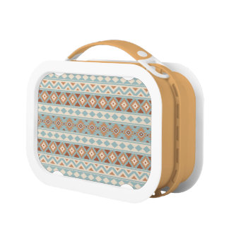 Aztec Essence Ptn IIIb Blue Cream Terracottas Lunch Box