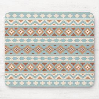 Aztec Essence Ptn IIIb Blue Cream Terracottas Mouse Pad