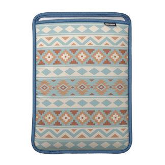 Aztec Essence Ptn IIIb Blue Cream Terracottas Sleeve For MacBook Air