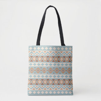 Aztec Essence Ptn IIIb Blue Cream Terracottas Tote Bag