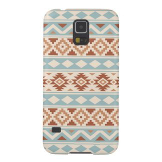 Aztec Essence Ptn IIIb Cream Blue Terracottas Cases For Galaxy S5