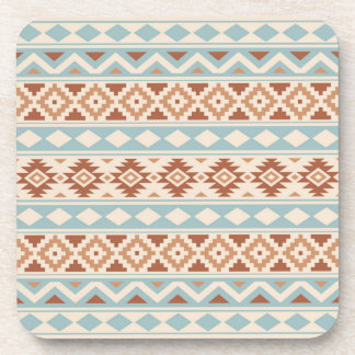 Aztec Essence Ptn IIIb Cream Blue Terracottas Coaster
