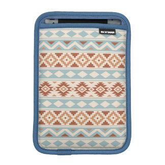 Aztec Essence Ptn IIIb Cream Blue Terracottas iPad Mini Sleeve