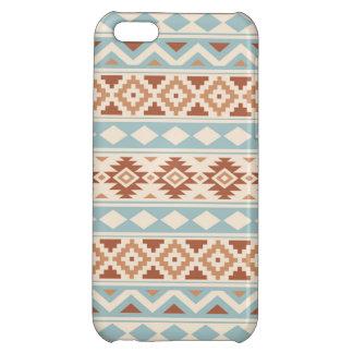 Aztec Essence Ptn IIIb Cream Blue Terracottas iPhone 5C Cases