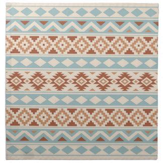 Aztec Essence Ptn IIIb Cream Blue Terracottas Napkin