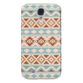 Aztec Essence Ptn IIIb Cream Blue Terracottas Samsung Galaxy S4 Cover