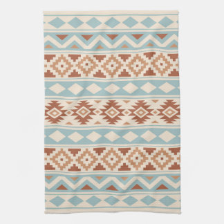 Aztec Essence Ptn IIIb Cream Blue Terracottas Tea Towel
