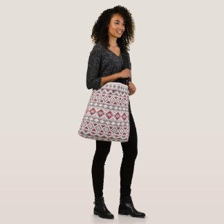 Aztec Essence Ptn IIIb Cream Taupe Red Crossbody Bag