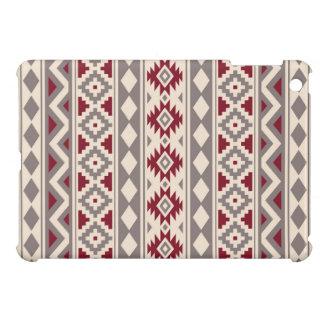 Aztec Essence Ptn IIIb Cream Taupe Red iPad Mini Cover