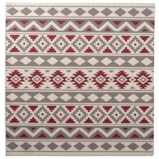 Aztec Essence Ptn IIIb Cream Taupe Red Napkin