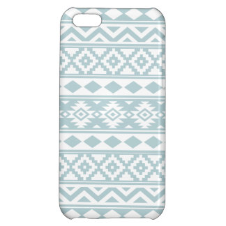 Aztec Essence Ptn IIIb Duck Egg Blue & White Cover For iPhone 5C