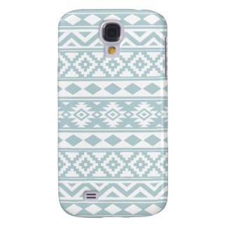 Aztec Essence Ptn IIIb Duck Egg Blue & White Galaxy S4 Case