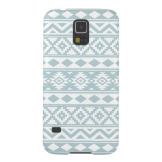 Aztec Essence Ptn IIIb Duck Egg Blue & White Galaxy S5 Case