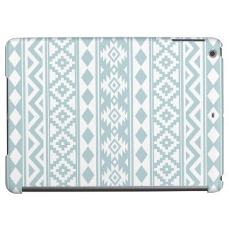Aztec Essence Ptn IIIb Duck Egg Blue & White iPad Air Cover