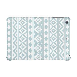 Aztec Essence Ptn IIIb Duck Egg Blue & White iPad Mini Case