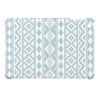 Aztec Essence Ptn IIIb Duck Egg Blue & White iPad Mini Cover