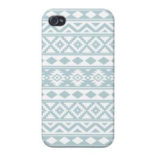 Aztec Essence Ptn IIIb Duck Egg Blue & White iPhone 4 Case