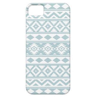 Aztec Essence Ptn IIIb Duck Egg Blue & White iPhone 5 Cover