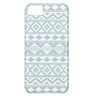 Aztec Essence Ptn IIIb Duck Egg Blue & White iPhone 5C Case