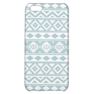 Aztec Essence Ptn IIIb Duck Egg Blue & White iPhone 5C Cases
