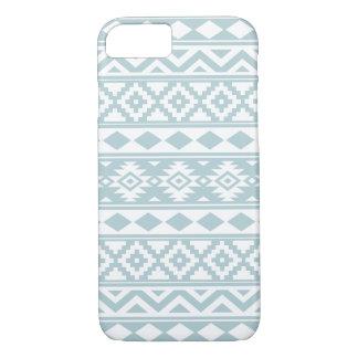 Aztec Essence Ptn IIIb Duck Egg Blue & White iPhone 8/7 Case