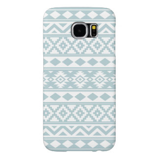 Aztec Essence Ptn IIIb Duck Egg Blue & White Samsung Galaxy S6 Cases