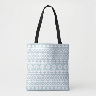 Aztec Essence Ptn IIIb Duck Egg Blue & White Tote Bag