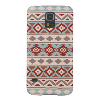 Aztec Essence Ptn IIIb Taupe Blue Crm Terracottas Case For Galaxy S5