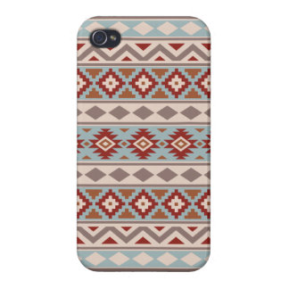 Aztec Essence Ptn IIIb Taupe Blue Crm Terracottas Case For The iPhone 4