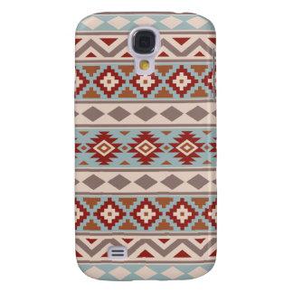 Aztec Essence Ptn IIIb Taupe Blue Crm Terracottas Galaxy S4 Case