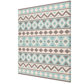 Aztec Essence Ptn IIIb Taupe Teal Cream Canvas Print