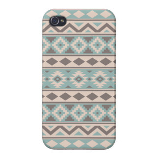Aztec Essence Ptn IIIb Taupe Teal Cream iPhone 4/4S Cover