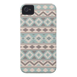 Aztec Essence Ptn IIIb Taupe Teal Cream iPhone 4 Case-Mate Case