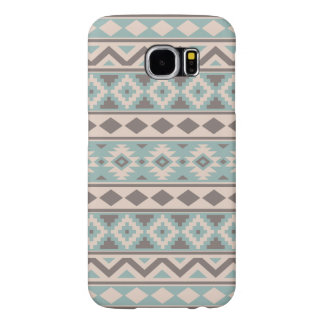 Aztec Essence Ptn IIIb Taupe Teal Cream Samsung Galaxy S6 Cases