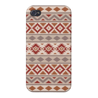 Aztec Essence Ptn IIIb Taupes Creams Terracottas Covers For iPhone 4